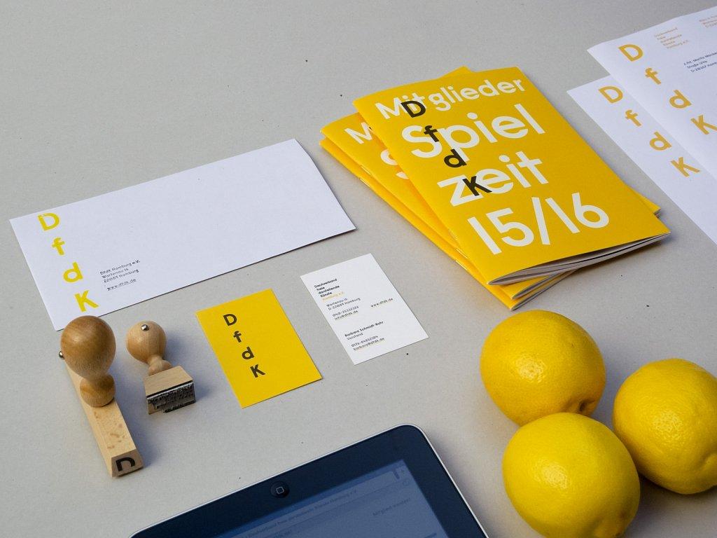 DfdK - Visitenkarten, Stempel, Broschüre